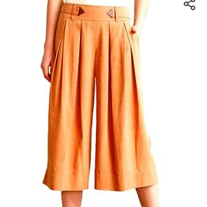 Anthropologie Elevenses Rust colored Culottes